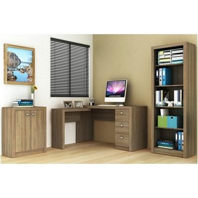 Ambiente para Home Office 03 Peças Amêndoa - Tecno Mobili