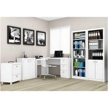 Ambiente para Home Office 05 Peças Branco - Tecno Mobili