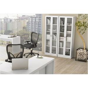 Ambiente para Home Office 06 Peças Branco – Tecno Mobili