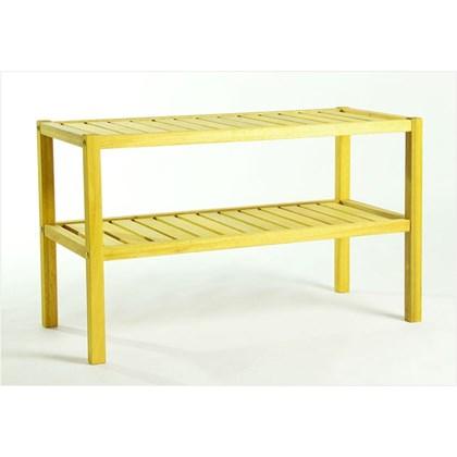 Aparador com 02 Prateleiras Aquiles Stain Amarelo - Mão & Formão