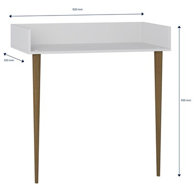 Aparador Escrivaninha Pés Palito Retrô 1003 Branco - BE Mobiliário
