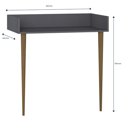 Aparador Escrivaninha Pés Palito Retrô 1003 Espresso - BE Mobiliário