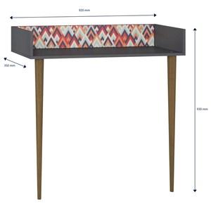Aparador Escrivaninha Pés Palito Retrô 1003 Espresso/Vermelho - BE Mobiliário