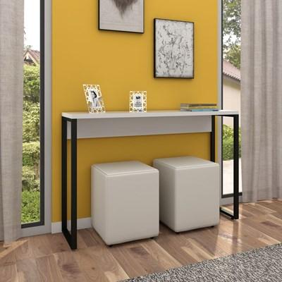 Aparador para Sala de Estar Studio Industrial M18 Branco – Mpozenato