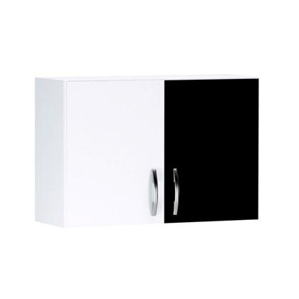 Arm rio a reo 2 portas 80 cm branco preto ajl m veis for Armario 80 cm