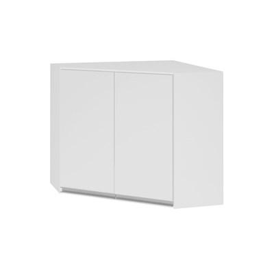 Armário Aéreo Canto Oblíquo 75cm 2 Portas 100% MDF Kali Premium 3053.6 Branco - Nicioli