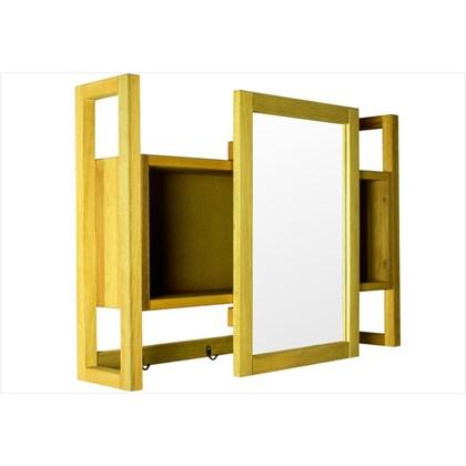 Armário Aéreo com Espelho Gourmet Aquiles Stain Amarelo - Mão & Formão