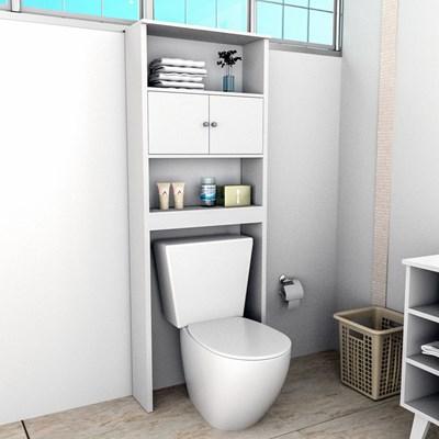 Armário Banheiro 2 Portas 3 Prateleiras Slim 5004 Branco - Appunto