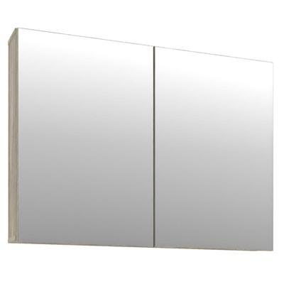 Armário de Banheiro com Espelho 100cm 2 Portas Malbec Barrique/Argento - Bosi