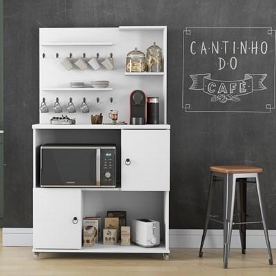 Armário Multiuso 2 Portas Cantinho do Café Aconchego Branco - Patrimar Móveis