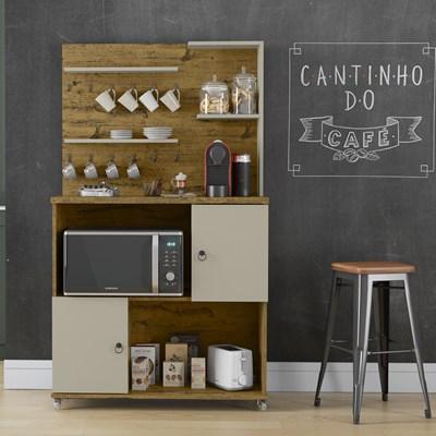 Armário Multiuso 2 Portas Cantinho do Café Aconchego Nature Off White - Patrimar Móveis