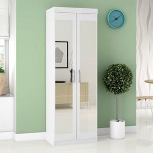 Armário Multiuso 2 Portas com Espelho 7020 Branco - Araplac