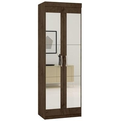 Armário Multiuso 2 Portas com Espelho 7020 Imbuia - Araplac