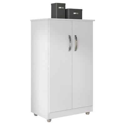 Armário Multiuso Organizador Rosana 2 Portas Branco - AJL Móveis