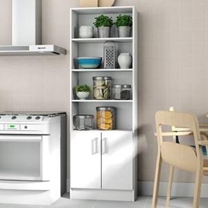 Armário Multiuso para Cozinha 2 Portas 3 Prateleiras BMU 103 Branco – BRV Móveis