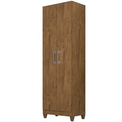 Armário Organizador Multiuso Íris 2 Portas Castanho Wood - Moval