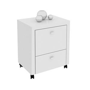 Armário para Home Office ME4112 com Rodízios Branco – Tecno Mobili