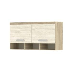 Armário Ponte Casal 147cm 200 Master 2 Portas Avelã Rústico/Ártico Rústico - Eucamóveis