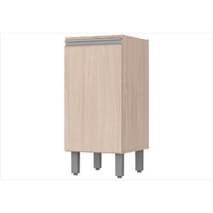 Balcão 1 Porta 35 cm com Tampo Connect Creme - Henn
