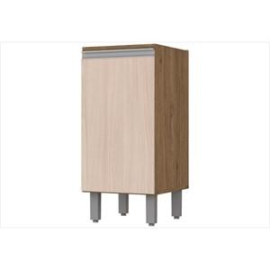 Balcão 1 Porta 35 cm com Tampo Integra Rústico/Creme - Henn