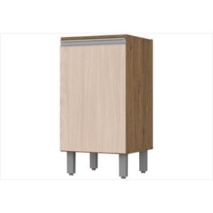 Balcão 1 Porta 40 cm com Tampo Integra Rústico/Creme - Henn