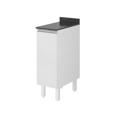 Balcão 30cm Tampo 25mm 1 Porta Kali Premium 3101.22 Branco - Nicioli