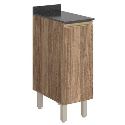 Balcão 30cm Tampo 25mm 1 Porta Kali Premium 3101.22 Carvalho Rústico - Nicioli