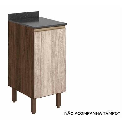 Balcão 40cm 1 Porta 100% MDF Kali Premium 3081.16 Amêndoa Rústico/Arezzo Rústico - Nicioli