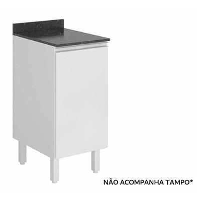 Balcão 40cm 1 Porta 100% MDF Kali Premium 3081.16 Branco - Nicioli