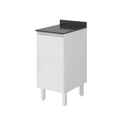Balcão 40cm com Tampo 25mm 1 Porta 100% MDF Kali Premium 3081.22 Branco - Nicioli