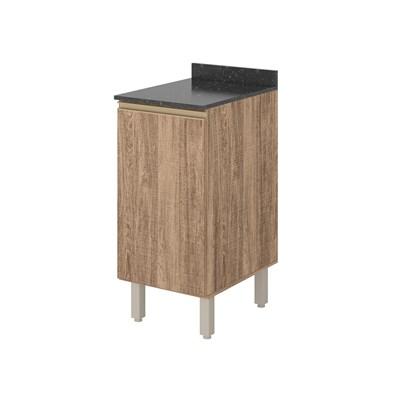 Balcão 40cm com Tampo 25mm 1 Porta 100% MDF Kali Premium 3081.22 Carvalho Rústico - Nicioli