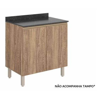 Balcão 60cm 2 Portas 100% MDF Kali Premium 3085.16 Carvalho Rústico - Nicioli