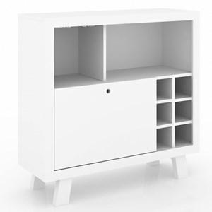 Balcão Adega 1 Porta AD5002 Branco - Tecno Mobili