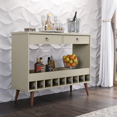 Balcão Aparador Para Sala de Jantar com Adega Seller Off White - Patrimar Móveis