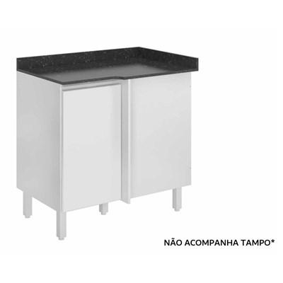 Balcão Canto Reto Kali Premium 3104 sem Tampo Branco - Nicioli