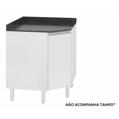 Balcão Canto sem Tampo Oblíquo 74cm 1 Porta 100% MDF Kali Premium 3087.16 Branco - Nicioli