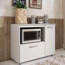 Balcão de Cozinha para Forno Microondas BL 200 Branco - Completa Móveis