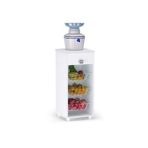 Balcão Fruteira para Cozinha Monalisa Branco - AJL Móveis