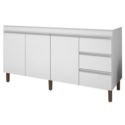 Balcão Gabinete de Pia 159cm Karen 3 Portas P14 Branco - Mpozenato