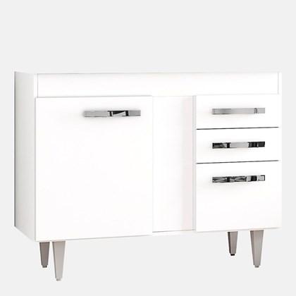 Balcão Gabinete de Pia sem Tampo 100cm Viena 2 Portas Branco - Lumil Móveis