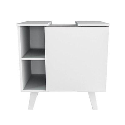 Balcão Gabinete Para Banheiro 60cm Slim 5000 Branco - Appunto