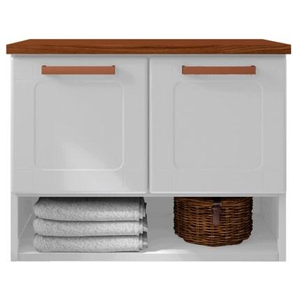 Balcão Gabinete para Banheiro 70cm 2 Portas Natura 8005 Branco - Bertolini
