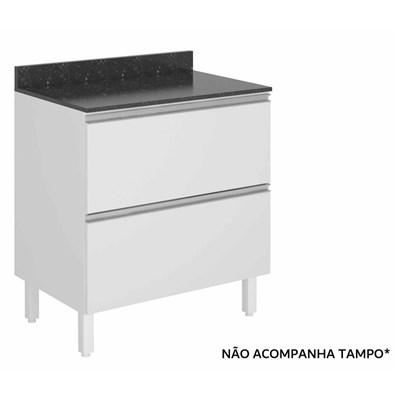 Balcão Gaveteiro 80cm 2 Gavetas 100% MDF Kali Premium 3096.16 Branco - Nicioli
