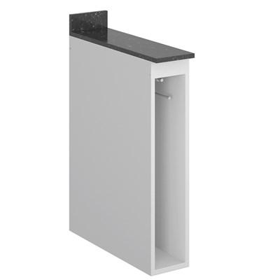 Balcão Guardanapeiro 15cm sem Tampo Kali Premium Branco - Nicioli