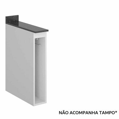 Balcão Guardanapeiro sem Tampo 15cm Kali Premium Branco - Nicioli
