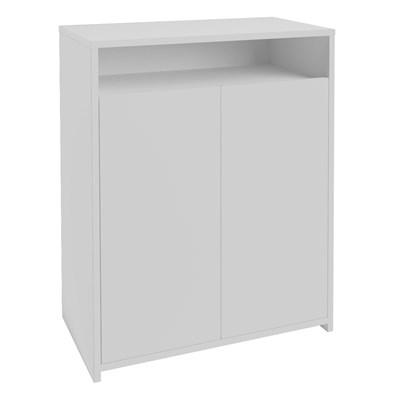Balcão Home Office 2 Portas Mobile Cool Branco - Artany
