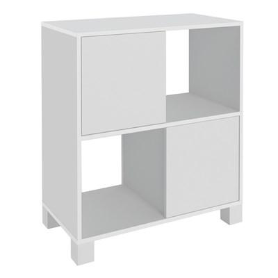 Balcão Home Office 2 Portas Mobile Kuad Branco - Artany
