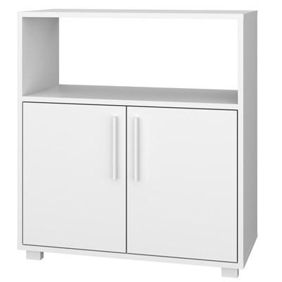 Balcão Multiuso Lavanderia e Banheiro 2 Portas BMU 27 Branco – BRV Móveis