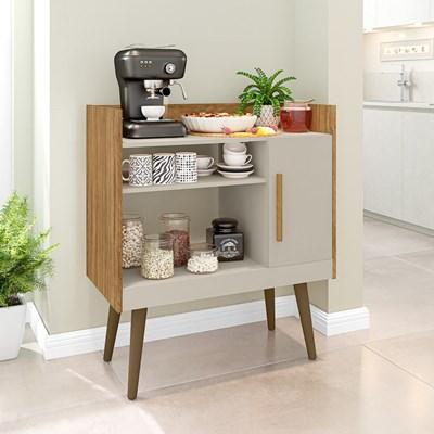 Balcão Multiuso Para Café 1 Porta Cinamomo/Off White - Bechara