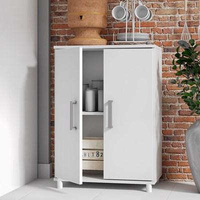 Balcão Multiuso para Cozinha 2 Portas BMU 105 Branco – BRV Móveis